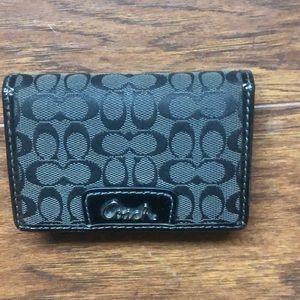Coach Signature Canvas Card Wallet